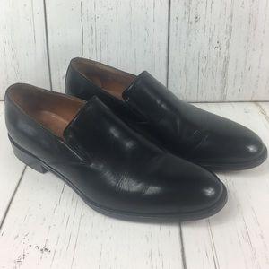 Bostonian Leather Plain Toe Slip-On Dress Shoes